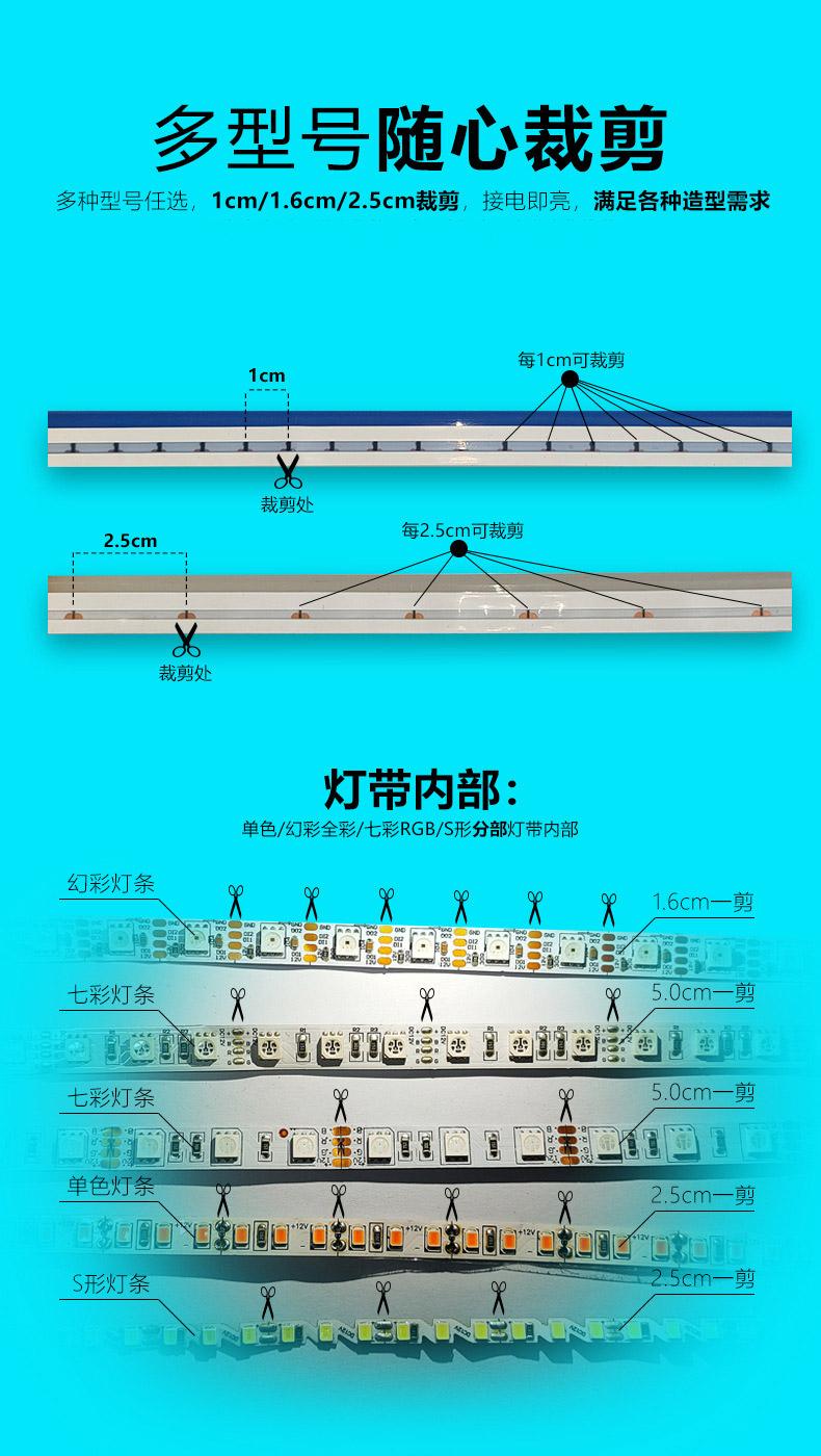 柔性硅胶LED霓虹灯带产品展示