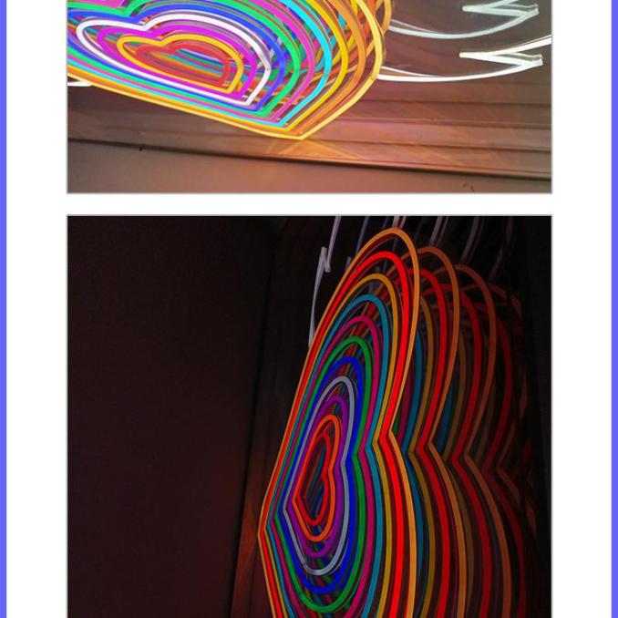 千层镜3D发光字